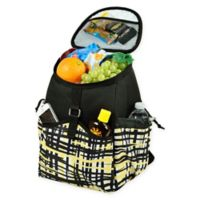 Picnic at Ascot Insulated Backpack Cooler in Black/Yellow