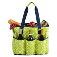Picnic at Ascot Extra Large Multi-Pocket Cooler Travel Bag in Green