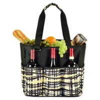 Picnic at Ascot Extra Large Multi-Pocket Cooler Travel Bag in Black/Yellow