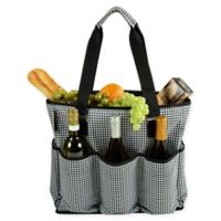 Picnic at Ascot Extra Large Multi-Pocket Cooler Travel Bag in Black/White