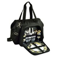 Picnic at Ascot 2-Person City Picnic Cooler in Black/Yellow