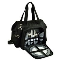Picnic at Ascot 2-Person City Picnic Cooler in Black/White