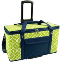 Picnic At Ascot 36 -Quart Trunk Cooler in Blue/Green with Wheels