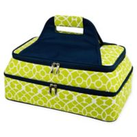 Picnic At Ascot Two Layer Hot/Cold Thermal Casserole Carrier in Green/Navy