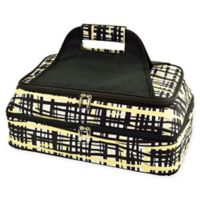 Picnic At Ascot Two Layer Hot/Cold Thermal Casserole Carrier in Black/Yellow