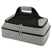 Picnic At Ascot Two Layer Hot/Cold Thermal Casserole Carrier in Black/White