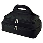 Picnic At Ascot Two Layer Hot/Cold Thermal Casserole Carrier in Black