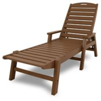 POLYWOOD® Nautical Chaise with Arms in Teak