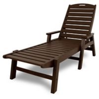 POLYWOOD® Nautical Chaise with Arms in Mahogany