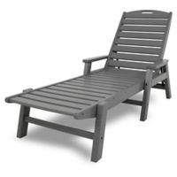 POLYWOOD® Nautical Chaise with Arms in Slate Grey