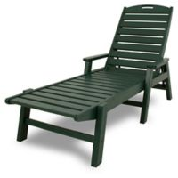 POLYWOOD® Nautical Chaise with Arms in Green