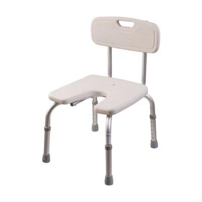 dmi ushape bath and shower chair in white