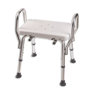 DMI Shower Bench Seat With Arms In White