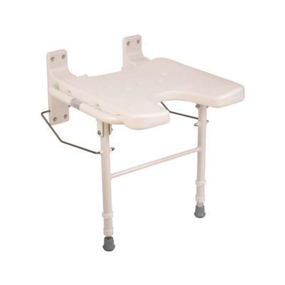 healthsmart wallmount fold away bath chair in white