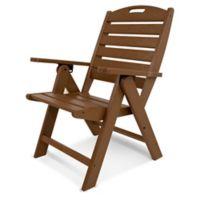 POLYWOOD® Nautical Highback Folding Chair in Teak