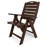 POLYWOOD® Nautical Highback Folding Chair in Mahogany
