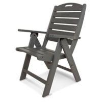 POLYWOOD® Nautical Highback Folding Chair in Slate Grey