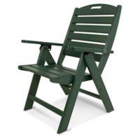 POLYWOOD® Nautical Highback Folding Chair in Green