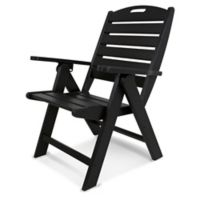 POLYWOOD® Nautical Highback Folding Chair in Black