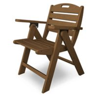 POLYWOOD® Nautical Lowback Folding Chair in Teak