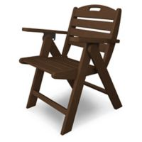 POLYWOOD® Nautical Lowback Folding Chair in Mahogany