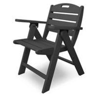 POLYWOOD® Nautical Lowback Folding Chair in Slate Grey