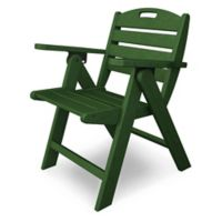 POLYWOOD® Nautical Lowback Folding Chair in Green