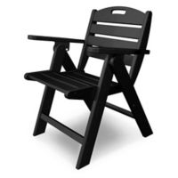 POLYWOOD® Nautical Lowback Folding Chair in Black