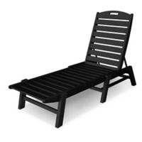 POLYWOOD® Nautical Stackable Chaise in Black