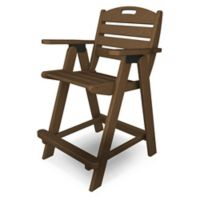 POLYWOOD® Nautical Counter Chair in Teak