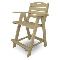 POLYWOOD® Nautical Counter Chair in Sand