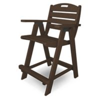 POLYWOOD® Nautical Counter Chair in Mahogany