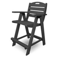 POLYWOOD® Nautical Counter Chair in Slate Grey