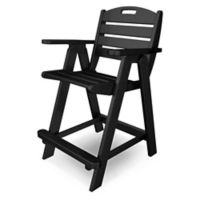 POLYWOOD® Nautical Counter Chair in Black
