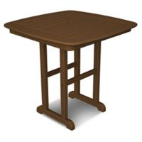 POLYWOOD® Nautical 31-Inch Square Dining Table in Teak