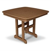 POLYWOOD® Nautical 37-Inch Square Dining Table in Teak