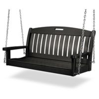POLYWOOD® Nautical Outdoor Swing in Black