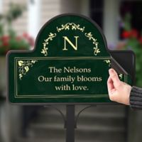 Floral Magnetic Garden Sign in Green
