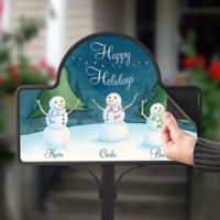 Our Snowman Family Magnetic Garden Sign