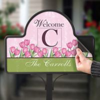 Spring Tulip Magnetic Garden Sign