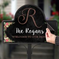 Posh Floral Welcome Magnetic Garden Sign