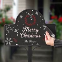 Wintertime Wishes Magnetic Garden Sign
