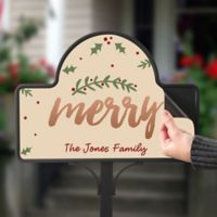 Cozy Christmas Magnetic Garden Sign