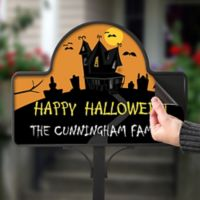 Haunted House Magnetic Garden Sign