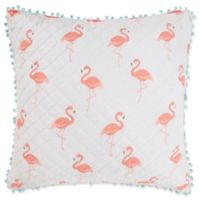 Levtex Home Flamingo Bay European Pillow Sham in Pink/White