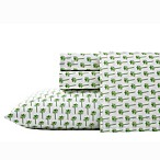 Nine Palms Palm Full Sheet Set in Bright Green