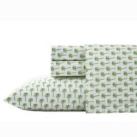 Nine Palms Palm King Sheet Set in Bright Green