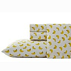 Nine Palms Banana Print Queen Sheet Set in Bright Yellow