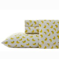 Nine Palms Banana Print King Sheet Set in Bright Yellow