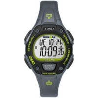 Timex® Ironman Women's 34mm Classic 30 Watch in Grey/Lime Resin with Grey Resin Strap in Grey